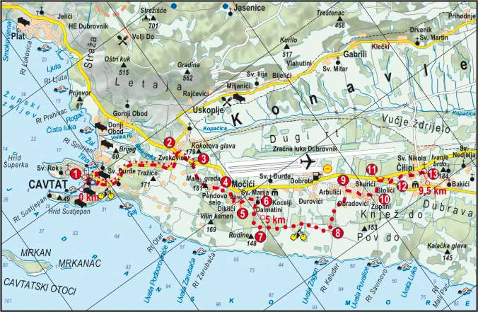 Cavtat_Cilipi biciklisticka ruta