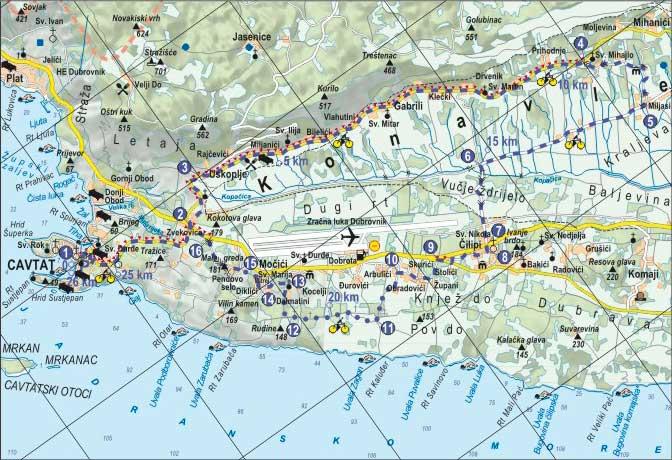 Cavtat-Miljasi biciklisticka ruta