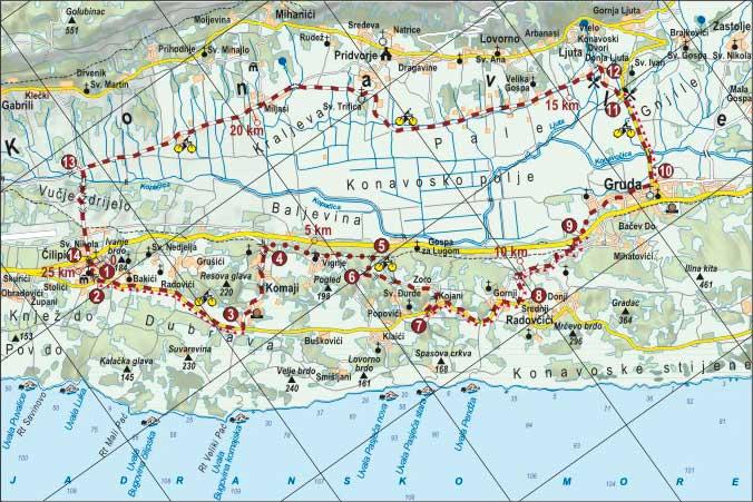 Cilipi-Pridvorje biciklisticka ruta